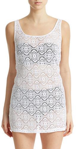 b23b8553a5d6 Laundry by Shelli Segal Crochet Tank Dress Coverup, $118 | Lord ...