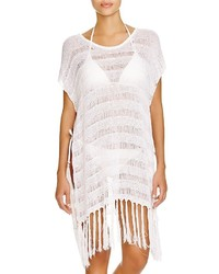 Polo Ralph Lauren Fringed Crochet Poncho Swim Cover Up