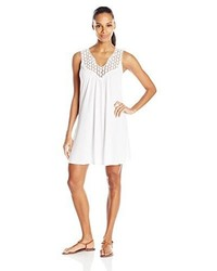 Kenneth Cole Reaction Beach Bum Solid Crochet Dress Cover Up
