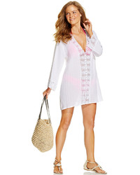 LaBlanca La Blanca Crochet Trim Tunic Cover Up Swimsuit