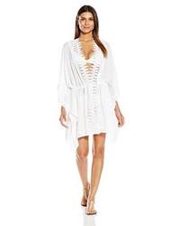 LaBlanca La Blanca Costa Brava Crochet Trim Kimono Sleeve Cover Up