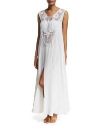Miguelina Lana Crocheted Maxi Coverup Dress