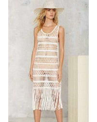 Factory Look Right Through Crochet Cover Up