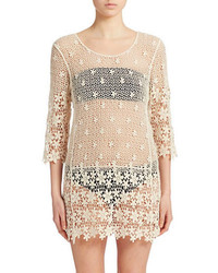 J Valdi Open Knit Crochet Cover Up