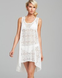 Gottex Profile By Tutti Frutti Crochet Cover Up Tank Dress