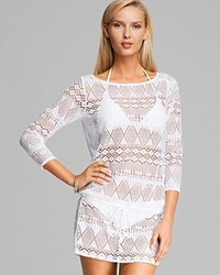 Ralph Lauren Blue Label Oasis Crochet Tunic Swim Cover Up