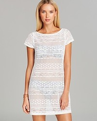 Ralph Lauren Lauren Crochet T Shirt Swim Cover Up Dress