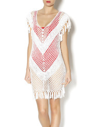 Ruby And Jenna Crochet Ivory Fringe Tunic