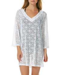 Laundry by Shelli Segal V Neck Crochet Tunic Coverup