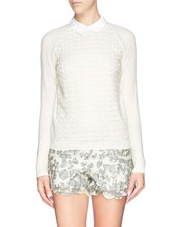 Tory Burch Carmine Crochet Knit Sweater