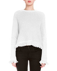 Proenza Schouler Crocheted Fringe Trim Sweater