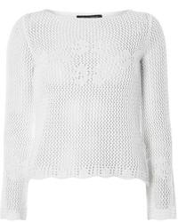 Dorothy Perkins Ivory Crochet Bell Sleeve Jumper