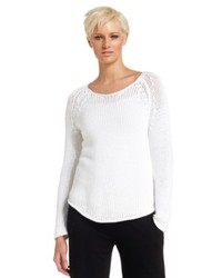 Eileen Fisher Long Sleeve Crochet Sweater