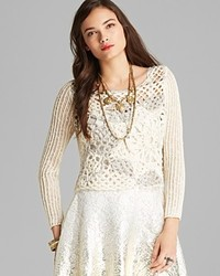 Free People Pullover Snowflake Crochet
