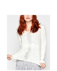 Full Tilt Crochet Inset Sweater