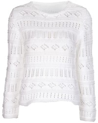 Lucien Pellat-Finet Lucien Pellat Finet Crochet Peace Sweater