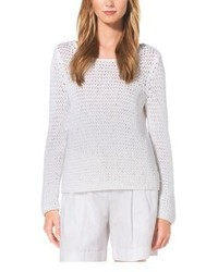 Michael Kors Michl Kors Hand Crocheted Cotton Sweater