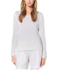 Michael Kors Michl Kors Hand Crocheted Cotton Sweater