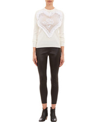 Michla Buerger Crocheted Heart Sweater