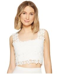 Nicole Miller Alexa Crochet Lace Crop Top Clothing