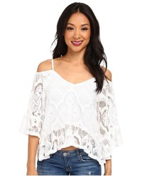 Crochet ruffle blouse medium 151629