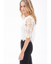 024f956826ee5 ... Forever 21 Floral Crochet Crop Top ...