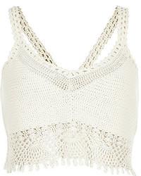 River Island White Crochet Bralet Top