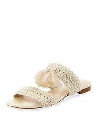 Joie Faina Crochet Flat City Slide Sandal White