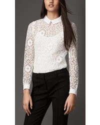 Burberry Crochet Lace Top