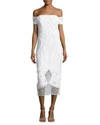 Thurley Apollo Crochet Off The Shoulder Midi Dress