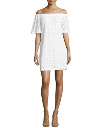 A.L.C. Ario Crocheted Off The Shoulder Dress White