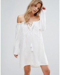 cba4d7533ef61 No Brand Parisian Off Shoulder Broderie Dress  35 · Boohoo Bardot Crochet  Shift Dress