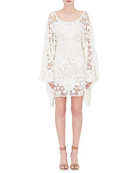 Chloé Chlo Crocheted Cotton Off The Shoulder Dress