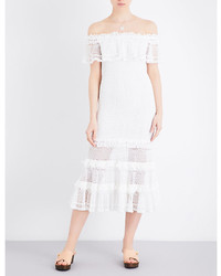 JONATHAN SIMKHAI Off The Shoulder Crochet Knitted Dress