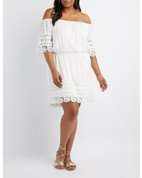 Charlotte Russe Plus Size Crochet Trim Off The Shoulder Dress