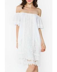 Sugar Lips White Crochet Dress