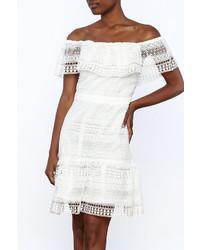 Endless Rose White Crochet Lace Dress