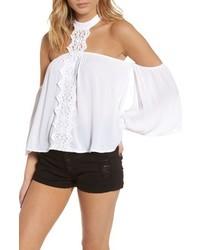 Crochet off the shoulder halter top medium 4354860