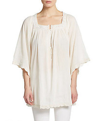 Calypso st barth entina cotton peasant blouse medium 289047