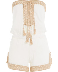Anna Kosturova Helena Cotton Playsuit With Crochet