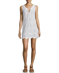 Doily sleeveless crocheted shift dress medium 6469455