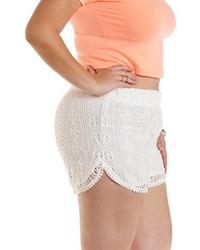 Charlotte Russe Plus Size Crochet Dolphin Shorts 26 Charlotte