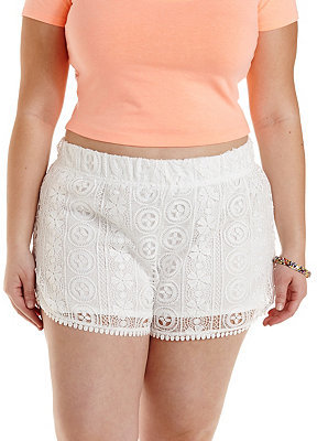 charlotte russe plus size crochet dolphin shorts | where to buy
