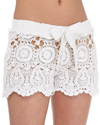 Crochet tie waist shorts medium 210396