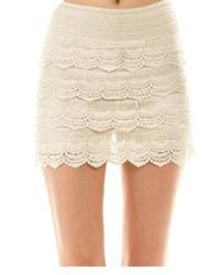 Ivory Crochet Shorts