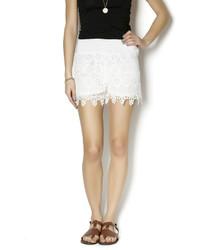 New Mix White Crochet Shorts