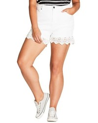 Plus size crochet hem short shorts medium 4401376