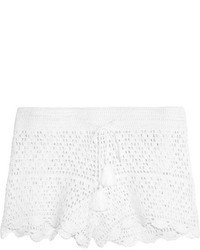 Tory Burch Portofino Crocheted Cotton Shorts