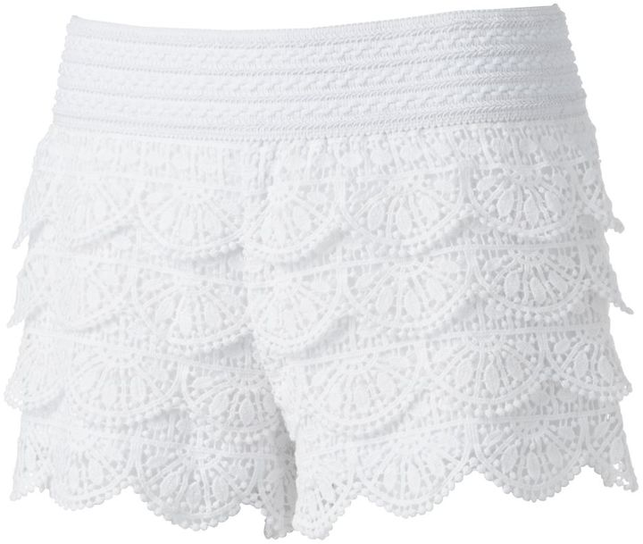 Rewind Crochet Lace Shortie Shorts Juniors 38 Kohls Lookasticcom