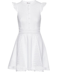 Redvalentino crocheted cotton mini dress medium 241705